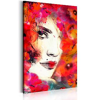 Canvas print-vrouw in papavers