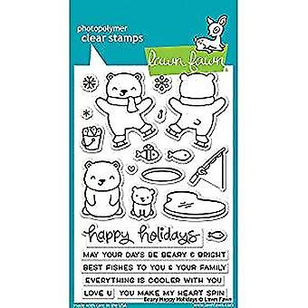 Lawn Fawn Beary Happy Holidays Clear Stamps (LF1470)