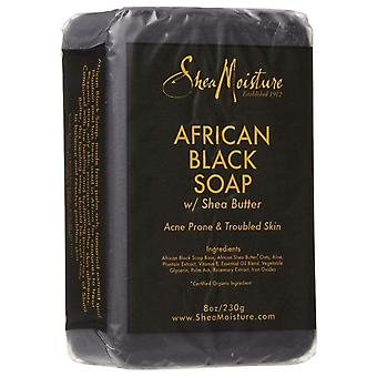 Sheamoisture african black soap with shea butter, 8 oz
