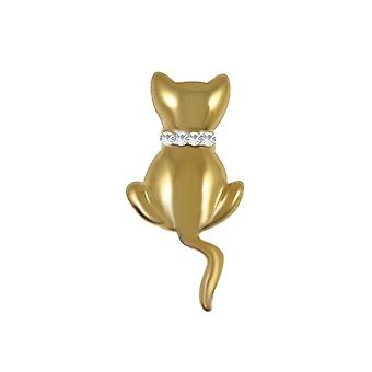 Evige samling Kitty gyldne kat broche