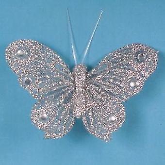 Künstliche glitzerbedeckten Schmetterlinge