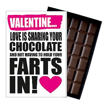Rude Valentines Day Gift For Boyfriend Girlfriend Funny Chocolate Card Present IYF146