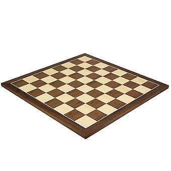 21.7 Inch Walnut and Maple Chess Board