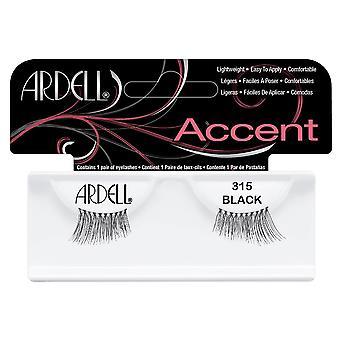 Ardell Accent 315 Black Easy To Apply Full False Eye Lashes