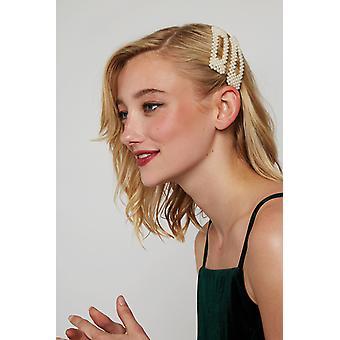 Louche Pearl Hair Clips Pearl