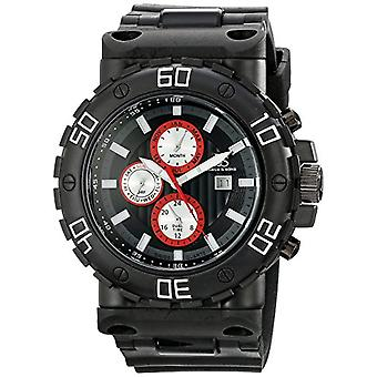 Joshua Sons &-quartz with analog Display and JS89BKW Silicon strap, colour: black