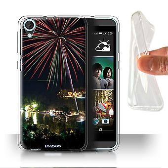 STUFF4 Gel/TPU Case/Cover for HTC Desire 820s Dual/Fireworks/Thailand Scenery