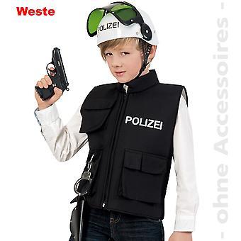 Kids police vest police police costume COP child costume
