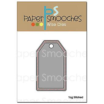 Paper Smooches Die Stitched Tag Kfbd126