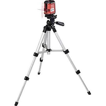 Cross line laser Self-levelling, Incl. tripod TOOLCRAFT CL8 Max. range: 8 m Calibrated to: Manufacturer standards