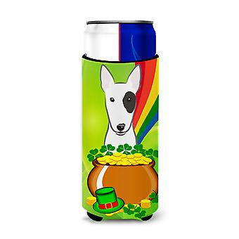 Bull Terrier St. Patrick's Day Michelob Ultra Koozies for slim cans BB1953MUK