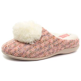 Dunlop Adeline Peach Womens Slipper Mules