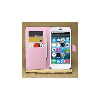 MW-Wallet Buch Fall Lychee Pink für Apple Iphone 6 Plus