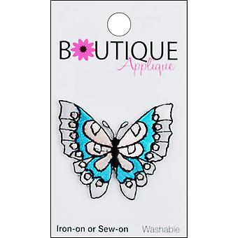 Iron-On Appliques-Blue & Pink Butterfly A001300-226