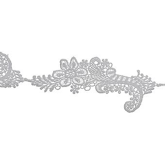 Floral Spray Venice Lace Trim 2-3/8