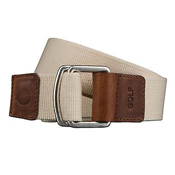 GOLF belts belts men's belts textile belt with double ring uni beige 3496