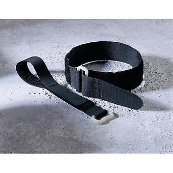 Hook-and-loop tape with strap Hook and loop pad (L x W) 400 mm x 30 mm Black Fastech 19046/30 1 pc(s)