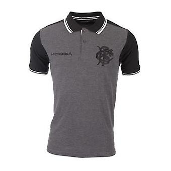 2016-2017 Barbarians Contrast Sleeve Polo Shirt (Charcoal)