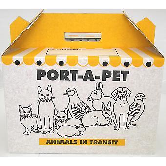 Shaws Standard Port-a-pet Cardboard Carry Box Pk10 (Pack of 10)