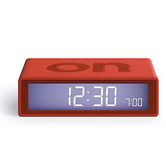 Red Lexon Flip Alarm Clock