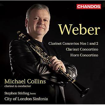 C.M. Von Weber - Weber: Clarinet Concertos nr 1 & 2; Concertino för klarinett; Horn Concertino [CD] USA import