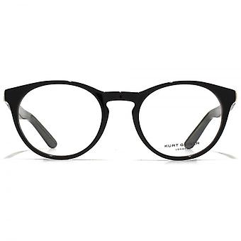 Kurt Geiger Imogen Preppy Round Acetate Glasses In Black