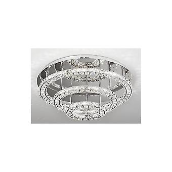 Eglo TONERIA Crystal Ring Multi Layered Ceiling Light