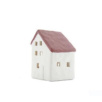 Lys-glød lille hus med LED, rød