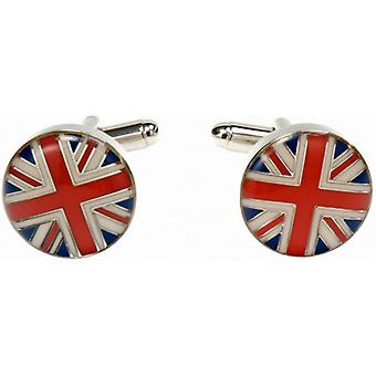 Simon Carter Union Jack dôme Cufflinks - rouge/blanc/bleu