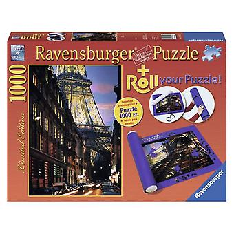 Ravensburger Set Puzzle de paris y tapete enrollable 1000 piezas