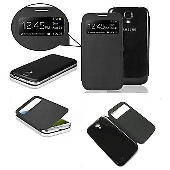 Superstudio svart vende tilfelle med Visor Cover Samsung Galaxy S4
