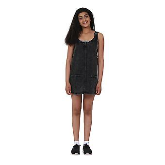 Vestito di jeans corta di Black Denim Pinafore età 10-16 anni Teen Fashion