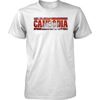 Efeito de bandeira nome Camboja Grunge Country - crianças T camisa