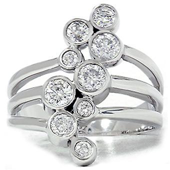 1ct diament podróż Ring 14K białe złoto