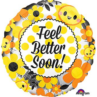 Anagram 18 Inch Feel Better Soon Circle Foil Balloon