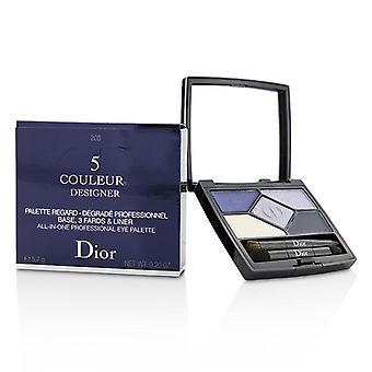 Christian Dior 5 Color Designer All In One Professional Eye Palette - No. 208 Navy Design - 5.7g/0.2oz
