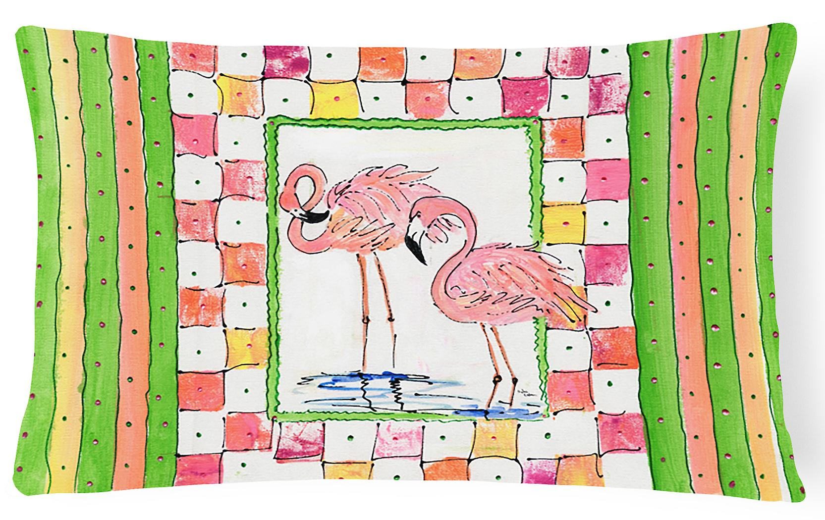 8077pw1216 Pillo Trésors BirdFlamingo Tissu Toile Décoratif Carolines LAj34R5