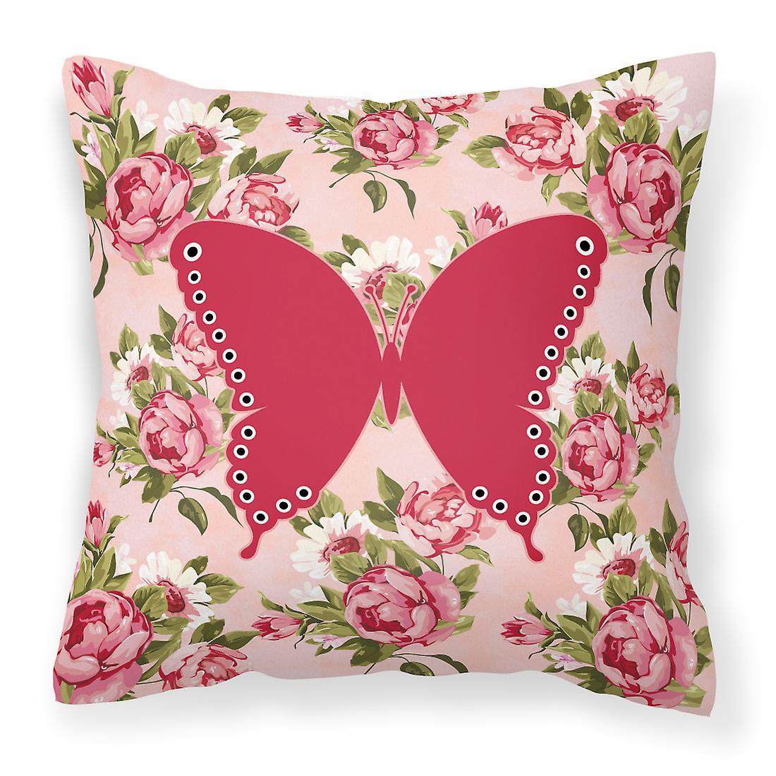 Tissu Oreiller Rose Chic Minable Papillons Roses Décoratif qSVpUMGz