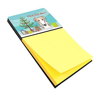 Carolines Treasures  BB1600SN Christmas Tree and Borzoi Sticky Note Holder