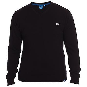 D555 Hadden Plain V Neck Sweater