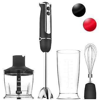 Savisto 750 Watt 3 in 1 Hand Blender Set with Attachments in Black