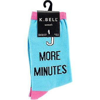 Novelty Crew Socks-5 More Minutes NOVSOCKS-7H005