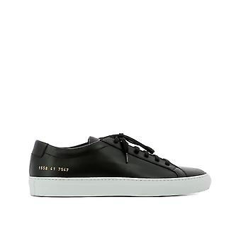 Common projects men's 16587547 black leather of sneakers