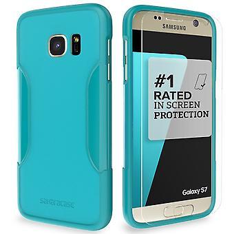 SaharaCase Galaxy S7 Oasis Kit de protección caso, clásico Teal con ZeroDamage vidrio templado