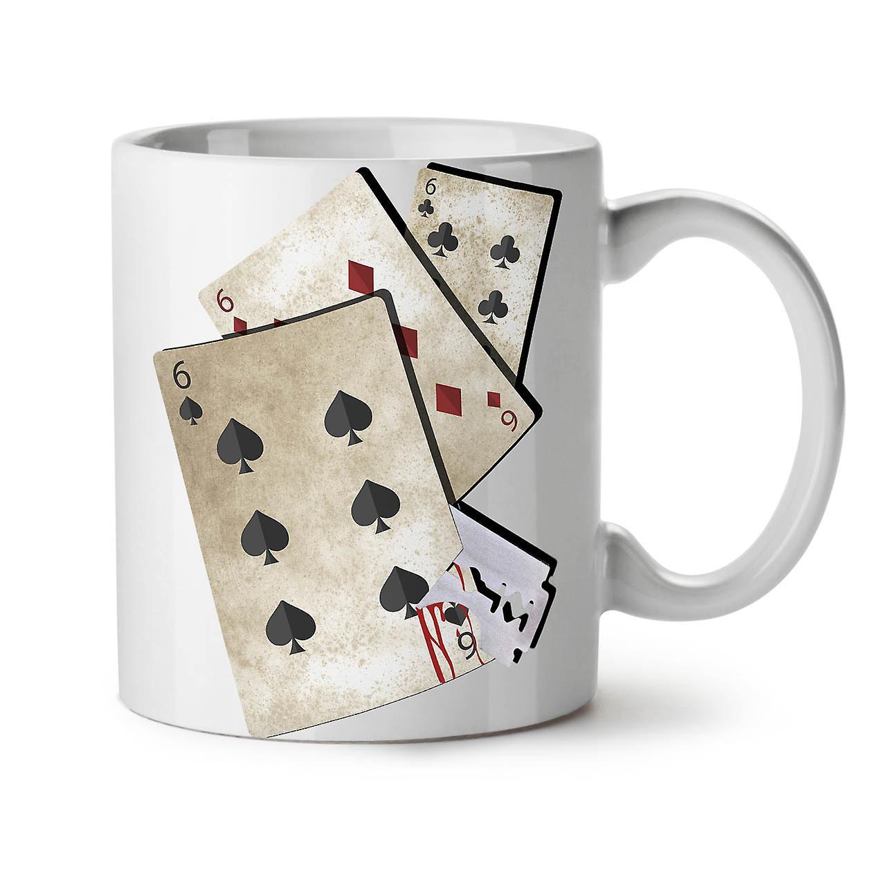 Gamble New Coffee Cards Ceramic 666 OzWellcoda White Tea 11 Razor Mug rdhsQtBCx