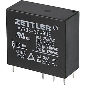 PCB relays 9 Vdc 10 A 2 change-overs Zettler Electronics
