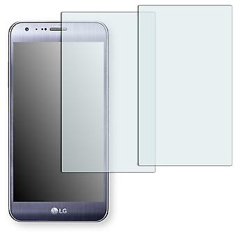 LG X cam screen protector - Golebo Semimatt protector (deliberately smaller than the display, as this is arched)