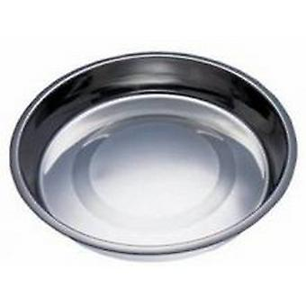 Fed N Watered Stainless Steel Kitty & Puppy Flat Pan