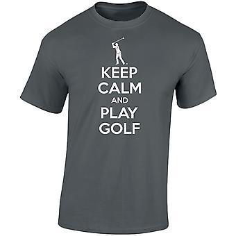 Keep Calm And Play Golf Mens T-Shirt 10 Colours (S-3XL) by swagwear