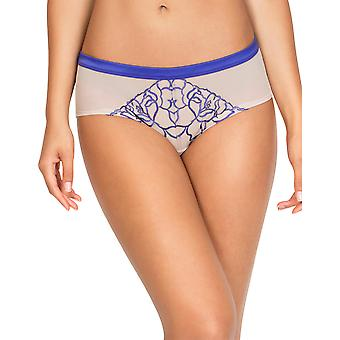 Mod by Parfait A1435 Women's Tattoo Clematis Blue Underwear Hipster Brief